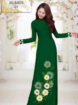 Vải áo dài Hoa Cúc AD B3629