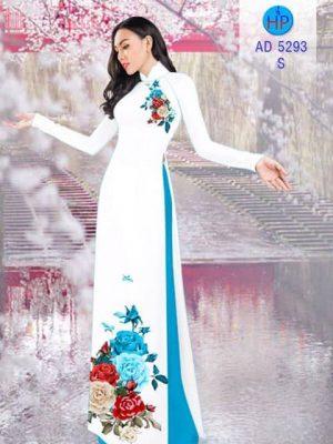 Vải áo dài Hoa hồng 8/3 AD 5293