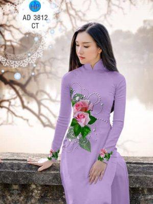Vải áo dài Hoa hồng 8/3 AD 3812