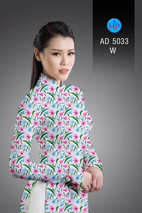 Vải áo dài Hoa đều AD 5033