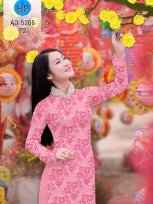 Vải áo dài Hoa đều AD 5266