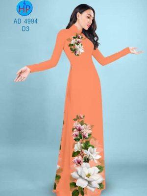 Vải áo dài Hoa in 3D AD 4994