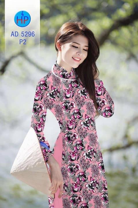 Vải áo dài Hoa đều AD 5296