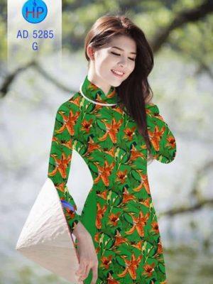 Vải áo dài Hoa Ly AD 5285