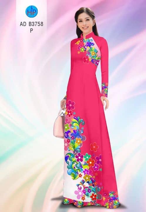 Vải áo dài Hoa in 3D AD B3758
