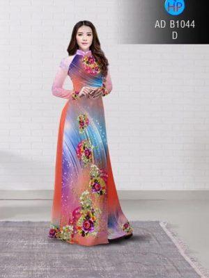 Vải áo dài Hoa hồng AD B1044