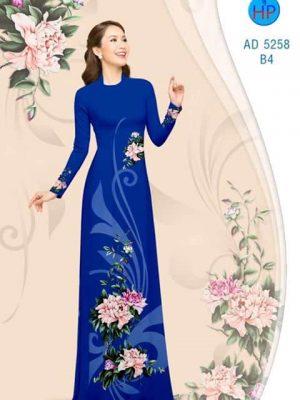 Vải áo dài Hoa Mẫu Đơn AD 5258