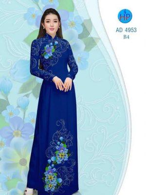Vải áo dài Hoa in 3D AD 4953