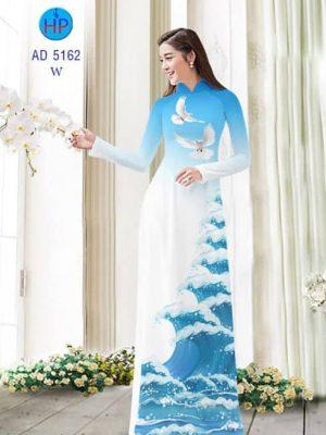 Vải áo dài Biển yên bình AD 5162