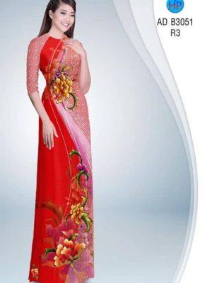 Vải áo dài Hoa Mẫu Đơn AD B3501