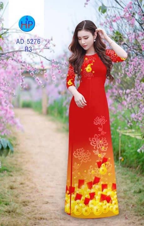 Vải áo dài mừng năm mới AD 5276
