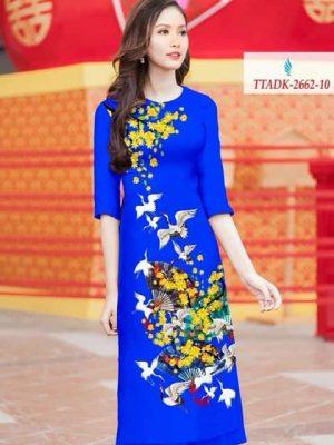 Vải áo dài hoa mai AD TTADK 2662