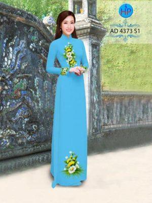 Vải áo dài Hoa Cúc nhẹ xinh AD 4373