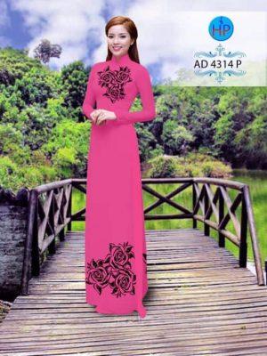 Vải áo dài Hoa hồng AD 4314