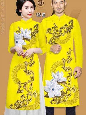 Vải áo dài cặp đôi đẹp sang trọng AD IW 13