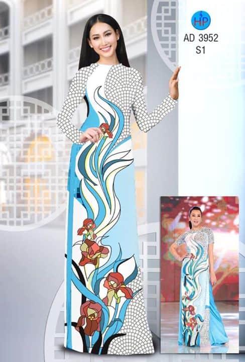 Vải áo dài Mẫu Kỳ Duyên đẹp ấn tượng AD 3952