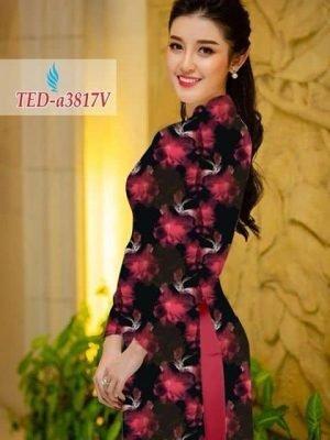 Vải áo dài hoa đẹp AD TED a3817