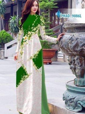 Vải áo dài hoa đẹp AD PHAD 9086