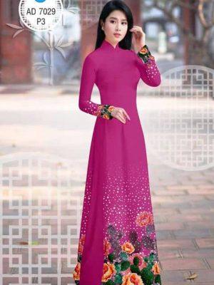 Vải áo dài Hoa Mẫu Đơn AD 7029