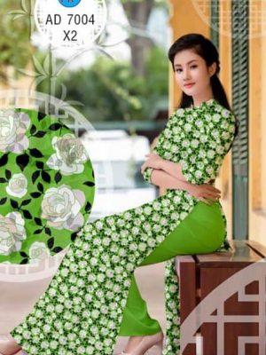 Vải áo dài Hoa dễ thương AD 7004