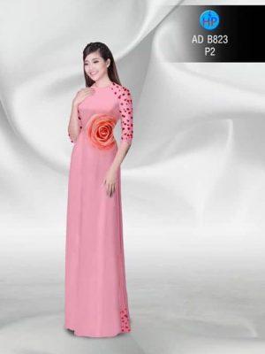 Vải áo dài Hồng ngọt ngào AD B823