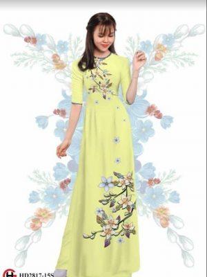 Vải áo dài hoa nhẹ nhàng AD HD2817