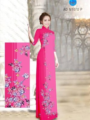 Vải áo dài Hoa Mẫu Đơn AD N1070