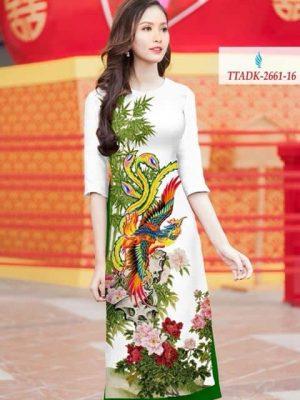 Vải áo dài chim công AD TTADK 2661