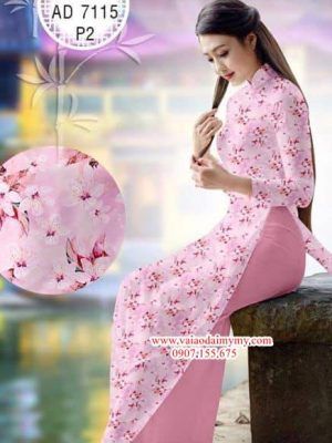 Vải áo dài Hoa Đào AD 7115