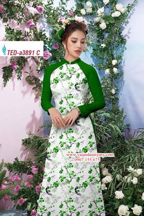 Vải áo dài hoa đều AD TED a3891