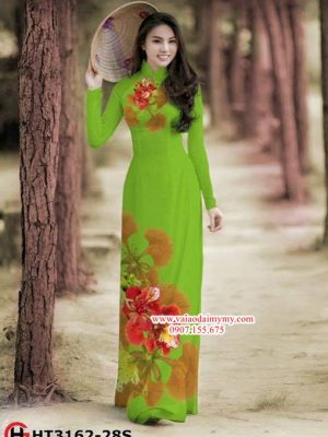 Vải áo dài hoa phượng AD HT 3162