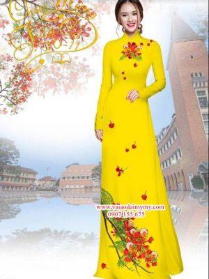 Vải áo dài hoa phượng AD HT3973