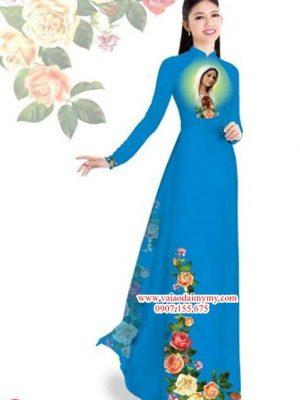 Vải áo dài hoa hồng và Đức Mẹ AD PN1527