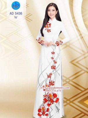 Vải áo dài Hoa Phượng AD 5436
