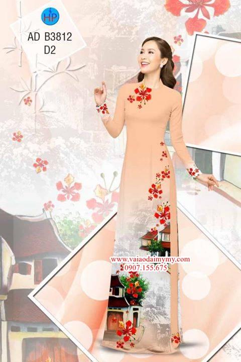 Vải áo dài Hoa Phượng AD B3812