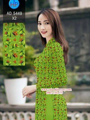Vải áo dài Hoa nhỏ xinh AD 5449