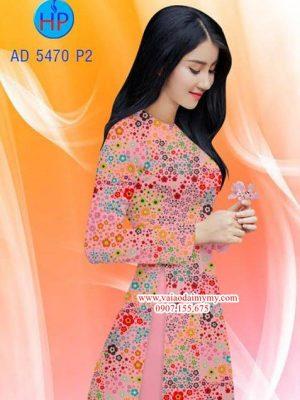 Vải áo dài Hoa nhí AD 5470
