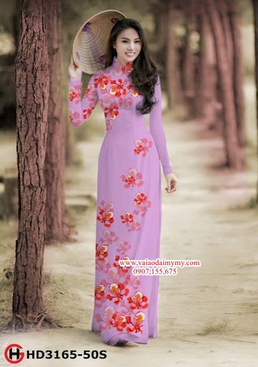 Vải áo dài hoa phượng AD HD 3165