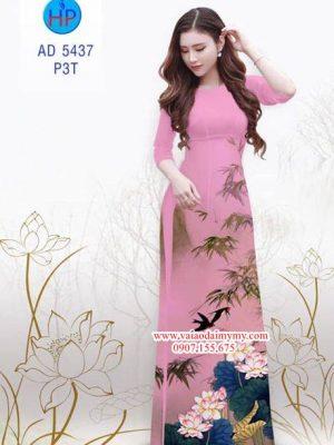 Vải áo dài hoa Sen AD 5437