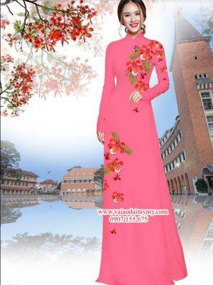 Vải áo dài hoa phượng AD PN3170