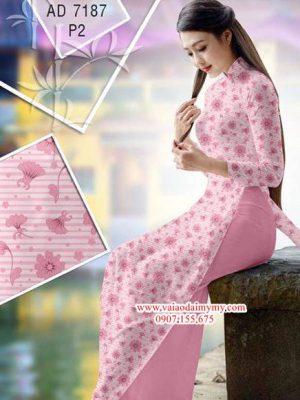 Vải áo dài Hoa nhỏ xinh AD 7187