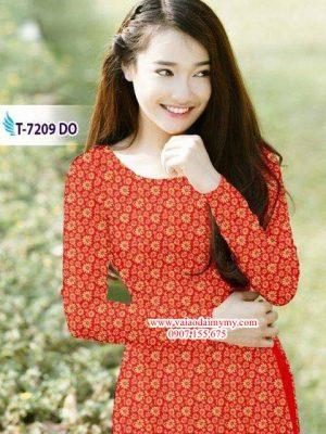Vải áo dài hoa nhí AD T7209