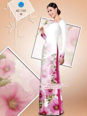 Vải áo dài Hoa in 3D AD 7181