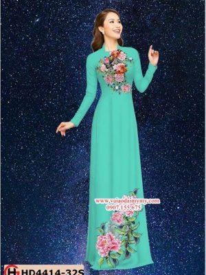 Vải áo dài hoa cẩm chướng AD HD4414