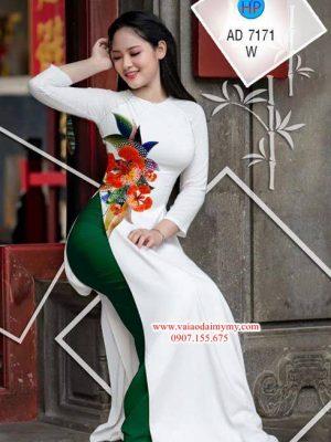 Vải áo dài Hoa Phượng AD 7171
