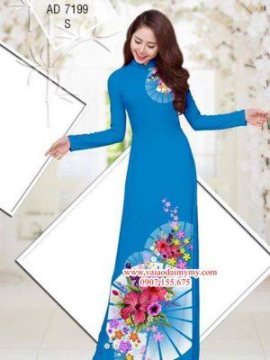 Vải áo dài Hoa Râm Bụt AD 7199