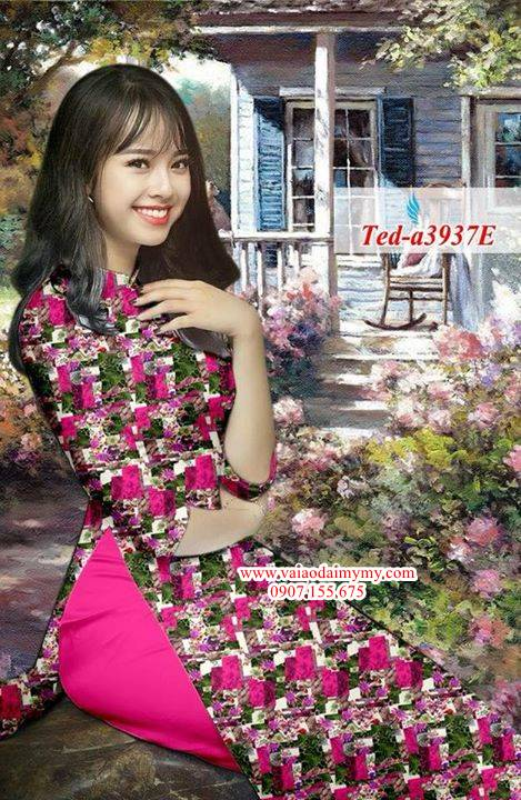 Vải áo dài hoa đều AD TED a3937 12