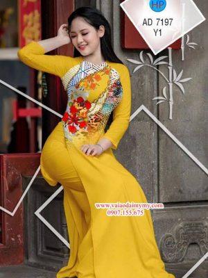 Vải áo dài Hoa Phượng AD 7197