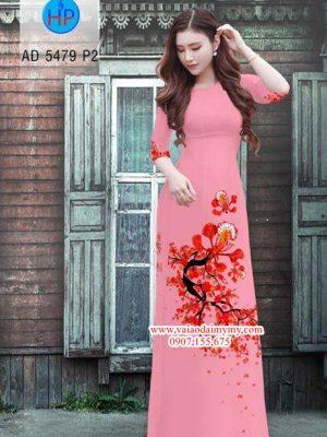 Vải áo dài hoa Phượng AD 5479