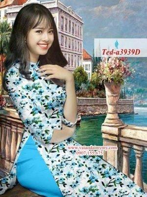 Vải áo dài hoa đều AD TED a3939